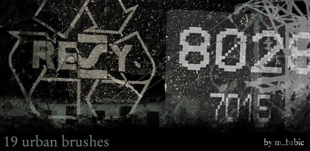 19 Urban Photoshop Brushes