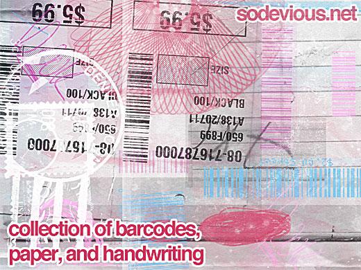 Barcode Paper Handwriting Brushes
