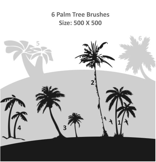 Palm Trees Brushes