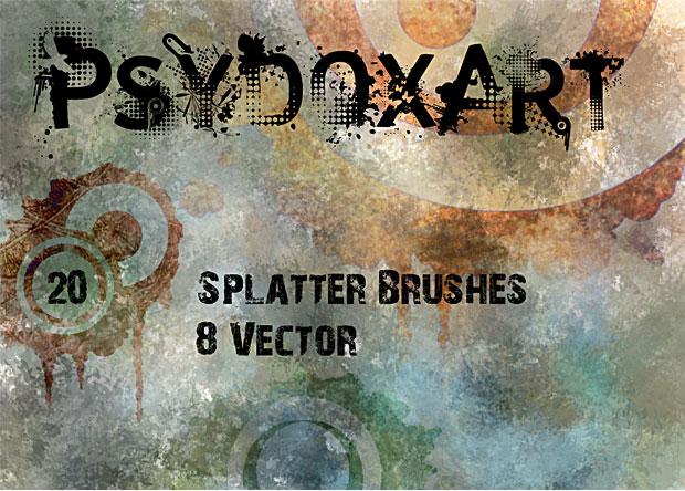 Splatter Brushes Vol 1