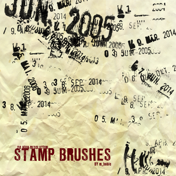 Date Stamp Brushes
