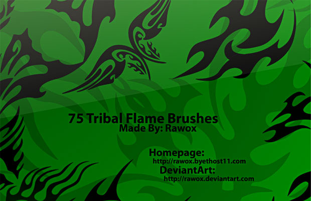 Tribal Flame Brushes