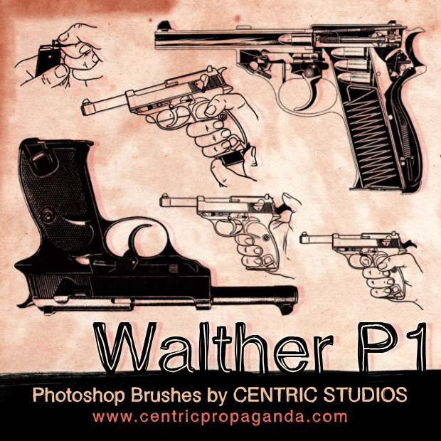 Walther P1 Gun Brushes