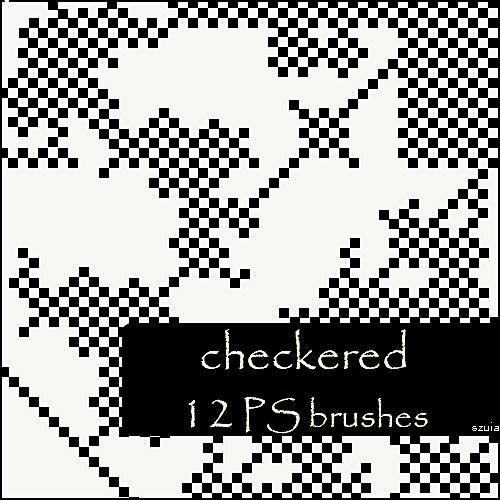 checkered brushes