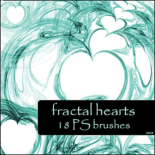 hearts fractal brushes
