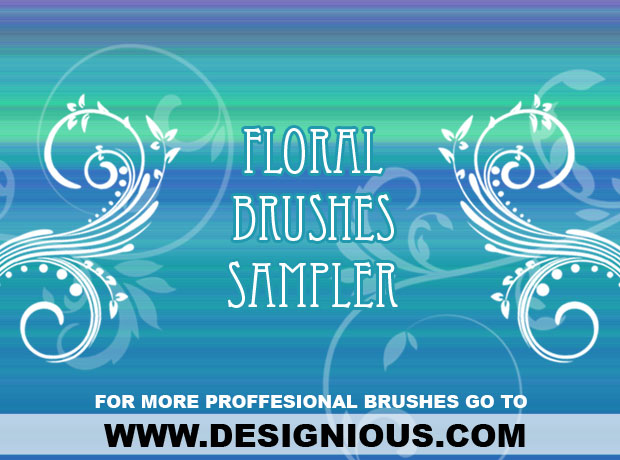 Floral brush sampler