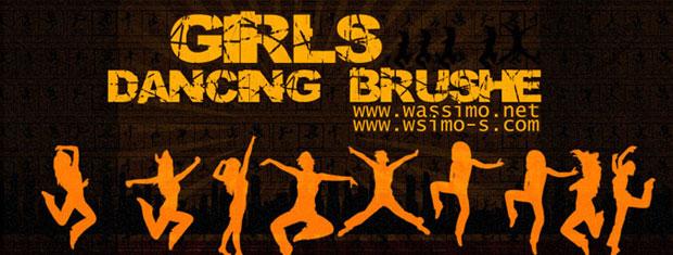 Girls Dancing Brushes