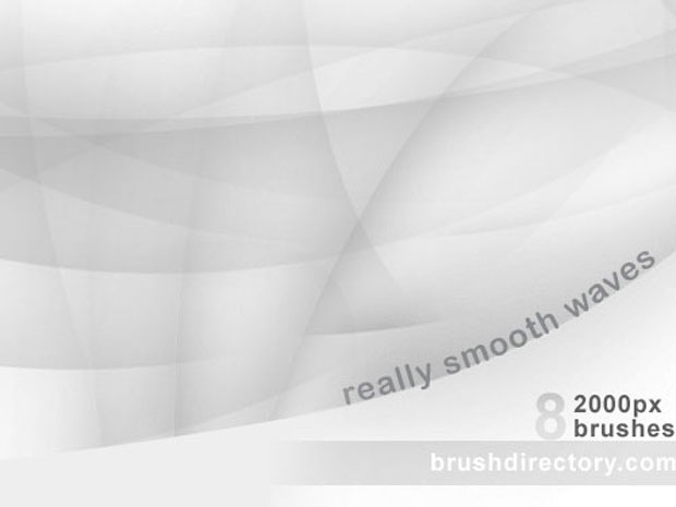 Smooth Waves Photoshop Brushes