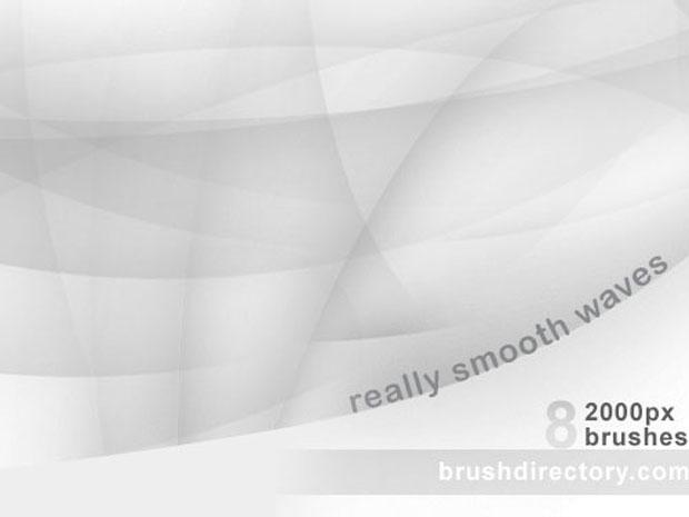 Smooth Waves Photoshop Brushes