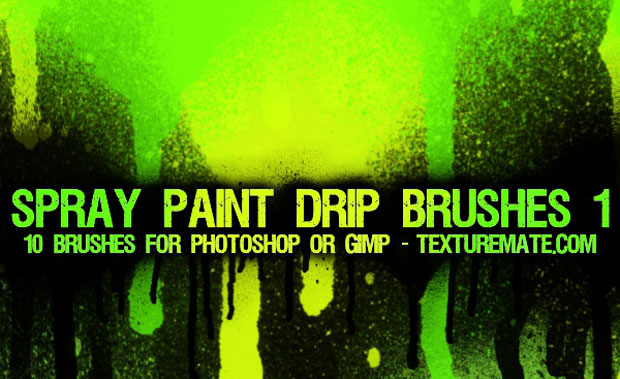 Spray Paint Photoshop Brushes
