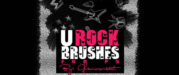 Rock Music Photoshop Brushes
