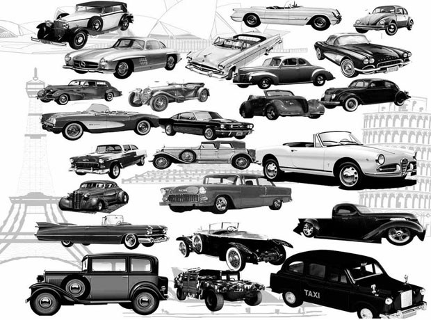 Classic Cars Photoshop Brushes