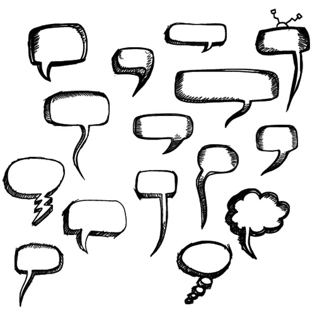 Speech Bubbles Photoshop Brushes