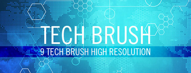 Tech World Map Brushes